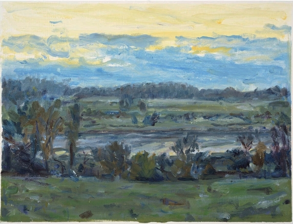 January afternoon, Colne Valley_oil on paper_22x30cm